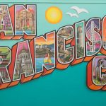Greetings from San Francisco Mural includes iconic images from the bay area