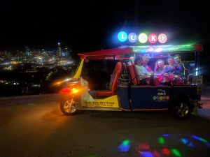 Lucky Tuk Tuk at Night - San Francisco Lights Tour